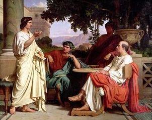 Virgile, Horace et Varius dans la villa de Mécène